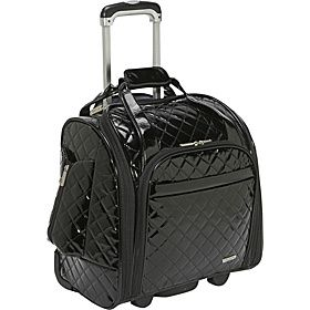 Travelon Wheeled Underseat Carry-On With Back-Up Bag. I don't like the shiny look but like the smaller size. Looking for something smaller to fit under the seat.
