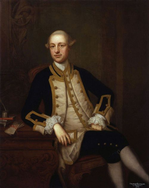 Maurice Suckling, by Thomas Bardwell mid 18th century    Captain Maurice Suckling (1726–1778) was a Royal Navy officer who was instrumental in the training of his nephew, Horatio Nelson.
