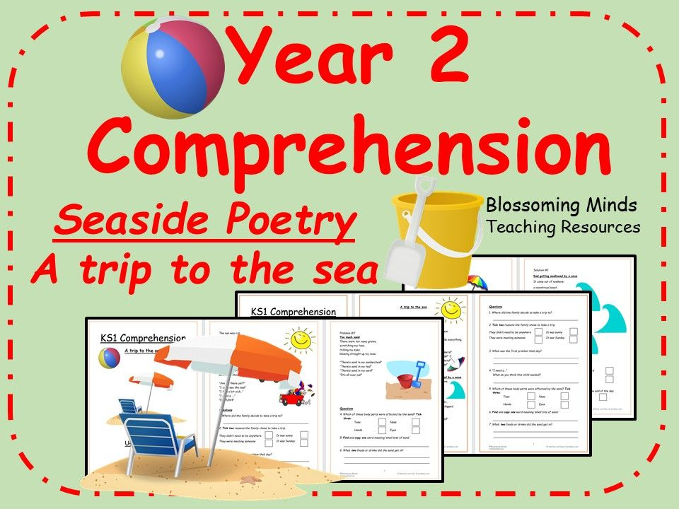 year 2 seaside poetry comprehension a trip to the sea english year 2 ages 6 7. Black Bedroom Furniture Sets. Home Design Ideas