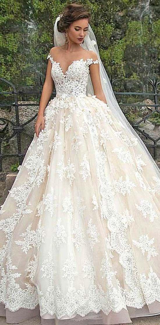 efff8c171d Off Shoulder Wedding Dresses Via Milla Nova New 2017