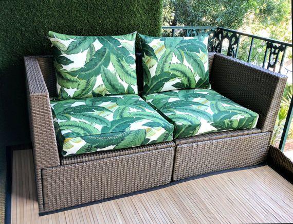 Ikea Arholma Slip Cover Ikea Cushion Covers Tommy Bahama Swaying Palm Leaves By Rockincushions Ikea Outdoor Cushions On Sofa Ikea Garden Furniture