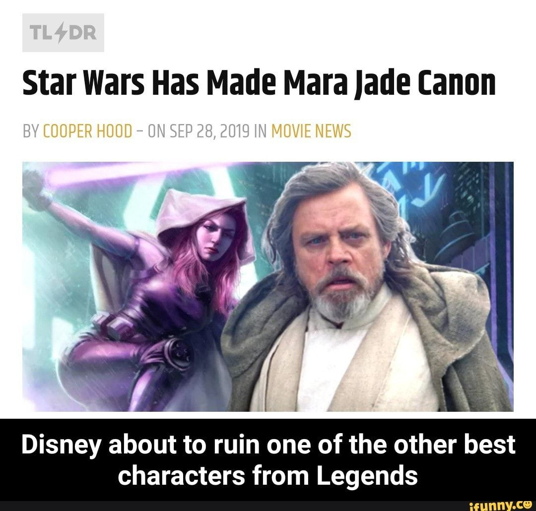 Star Wars Has Made Mara Jade Canon Disney About To Ruin One Of The Other Best Characters From Legends Disney About To Ruin One Of The Other Best Characters Fr