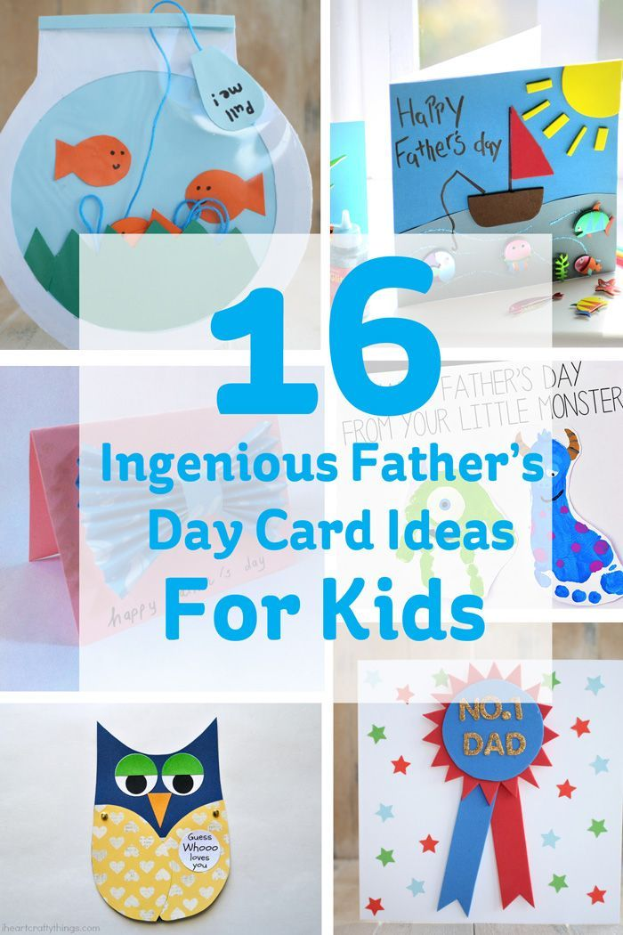 16 ingenious father's day card ideas for kids  fathers