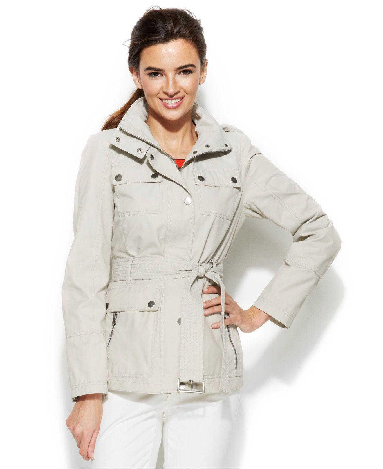 627b6db4c1233 Fall jacket Tommy Hilfiger Belted Utility Jacket - Coats - Women - Macy's