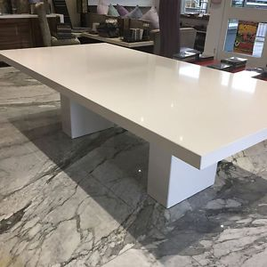 Quartz Bespoke Large 2m Dining Table White Dining Table Dining