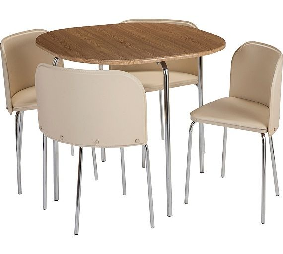 Argos Small White Table And Chairs: Buy Argos Home Amparo Oak Effect Dining Table & 4 Cream