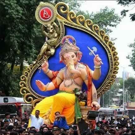 Picture Of The 2014 Chinchpoklicha Chintamani Ganpati Murti Idol Ganesh Chaturthi Images Ganesh Idol Pictures