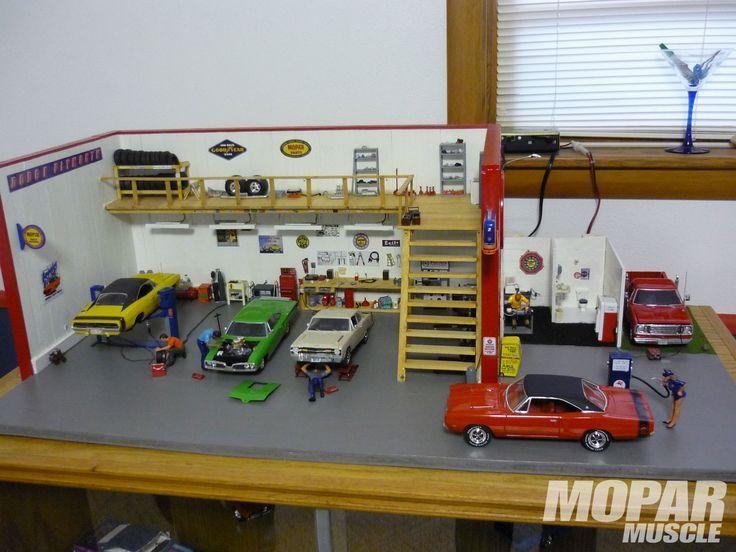 Image Result For Measurements For 1 24 Scale Garage Wall Mopar Diorama Car Model