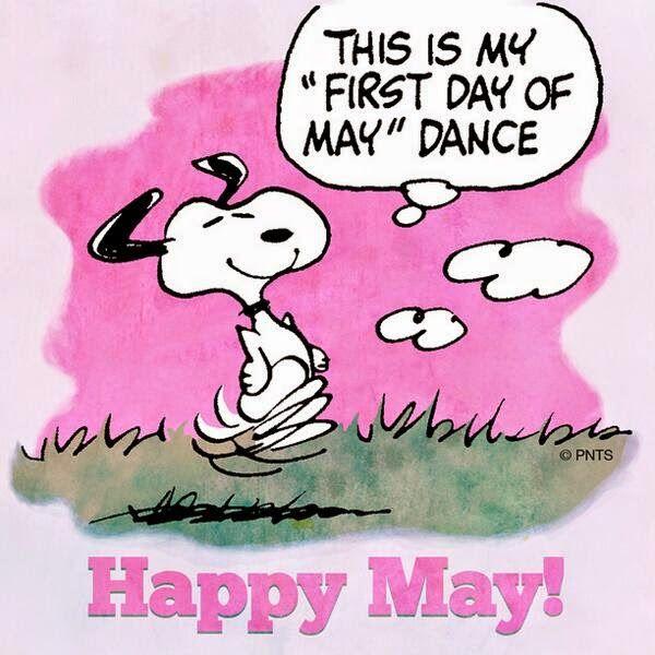 Hello Everyone! May, goodbye April Snoopy funny