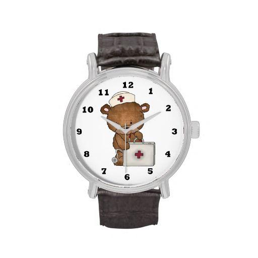 Cartoon Nurse Bear wrist watch