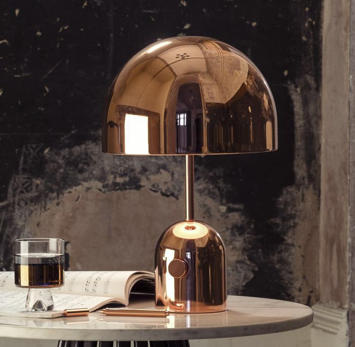 Tom Dixon Bell 17 3 H Table Lamp With Dome Shade Copper Home Accessories Table Lamp Copper Table