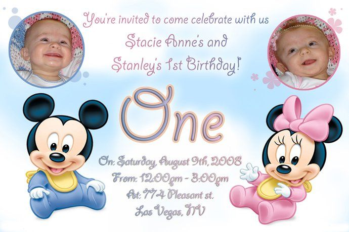 Twin Birthday Invitations Ideas For Anna Invitation Ideas Template