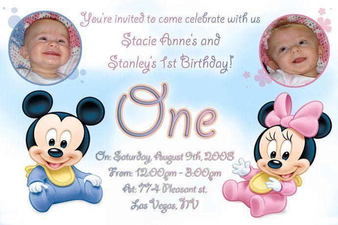 twin birthday invitations ideas free