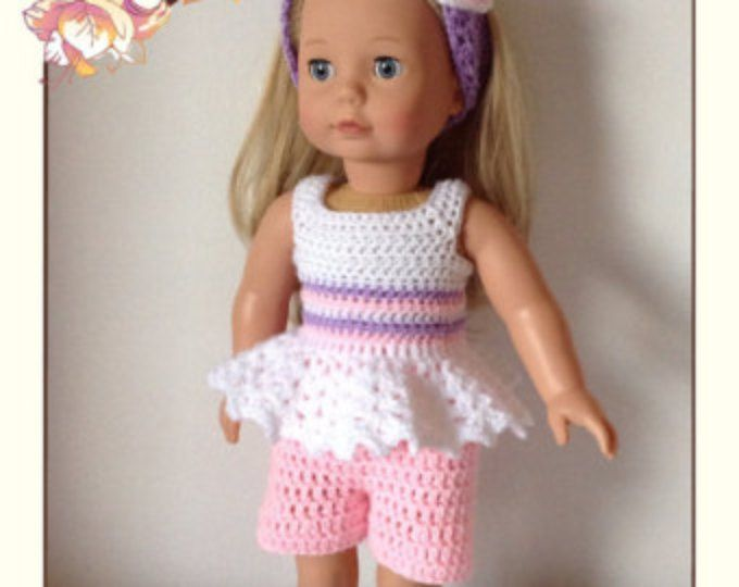 Crochet pattern pdf for 18 inch doll, American Girl doll, designer ...