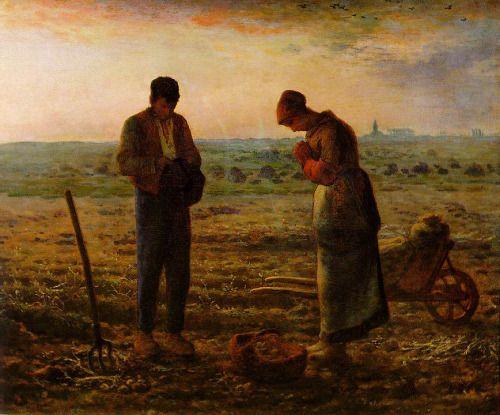 """theideaofart: """" L'Angélus (1857-1559) by Jean-François Millet """""""