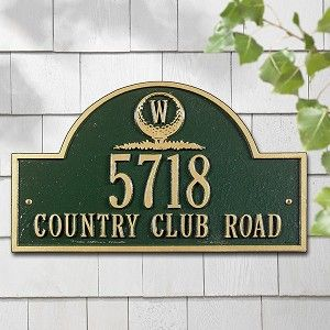 exterior homescapes. monogram golf arch standard plaque personalize your home address with plaques, mailboxes, and garden exterior homescapes v