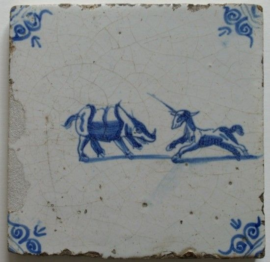 17th c. Delf tile 1650 Dutch - reminds me of Girl with a Pearl Earring