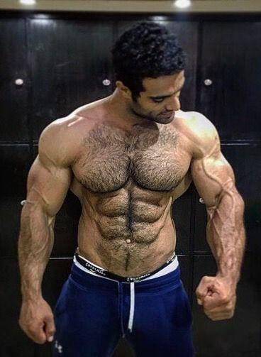 Hairy Muscular Pecs