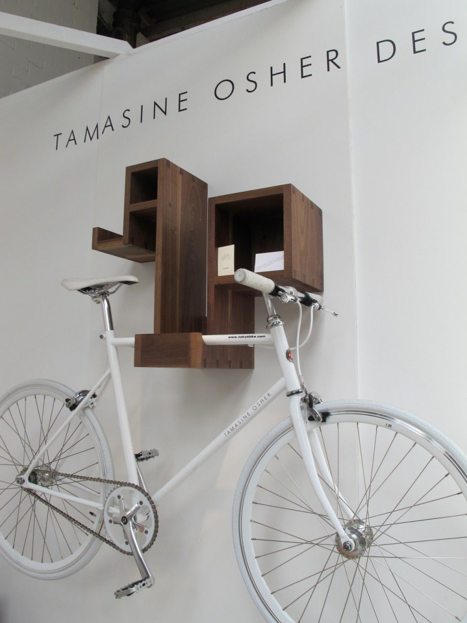 Decorations, Magnificent Indoor Bike Storage Solutions: Sophisticated And  Creative Indoor Bike Racks In White Wall With Fascinating Wooden Book Rack