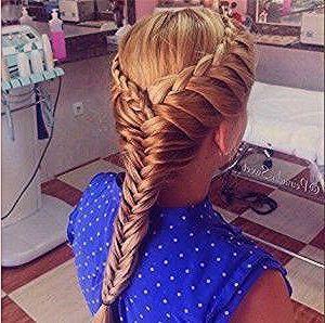 Easy Fishtail Braid Hack! Snap Braid Half Up Hair Tutorial  #braid #fishtail #tu # fishtail Braids diy