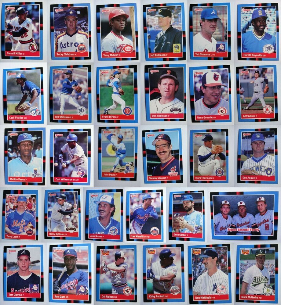 1988 donruss baseball cards complete your set you u pick