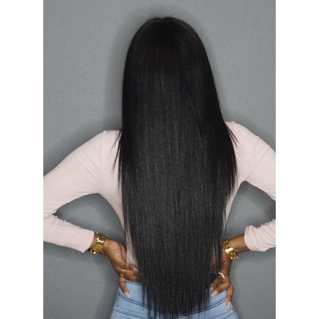 This Is Her Natural Hair Straightened Glamtwinz334 The Beauty Of