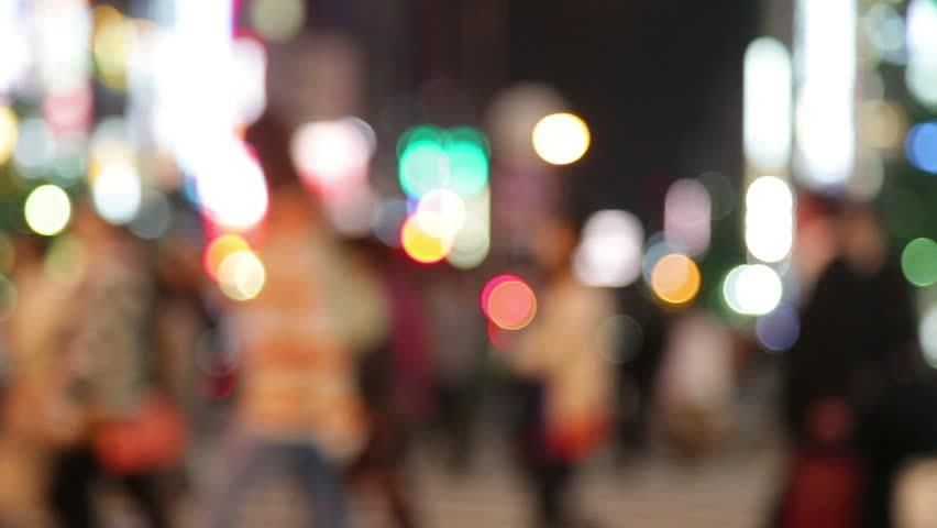 People Walking In City Night Stock Footage Video 100 Royalty