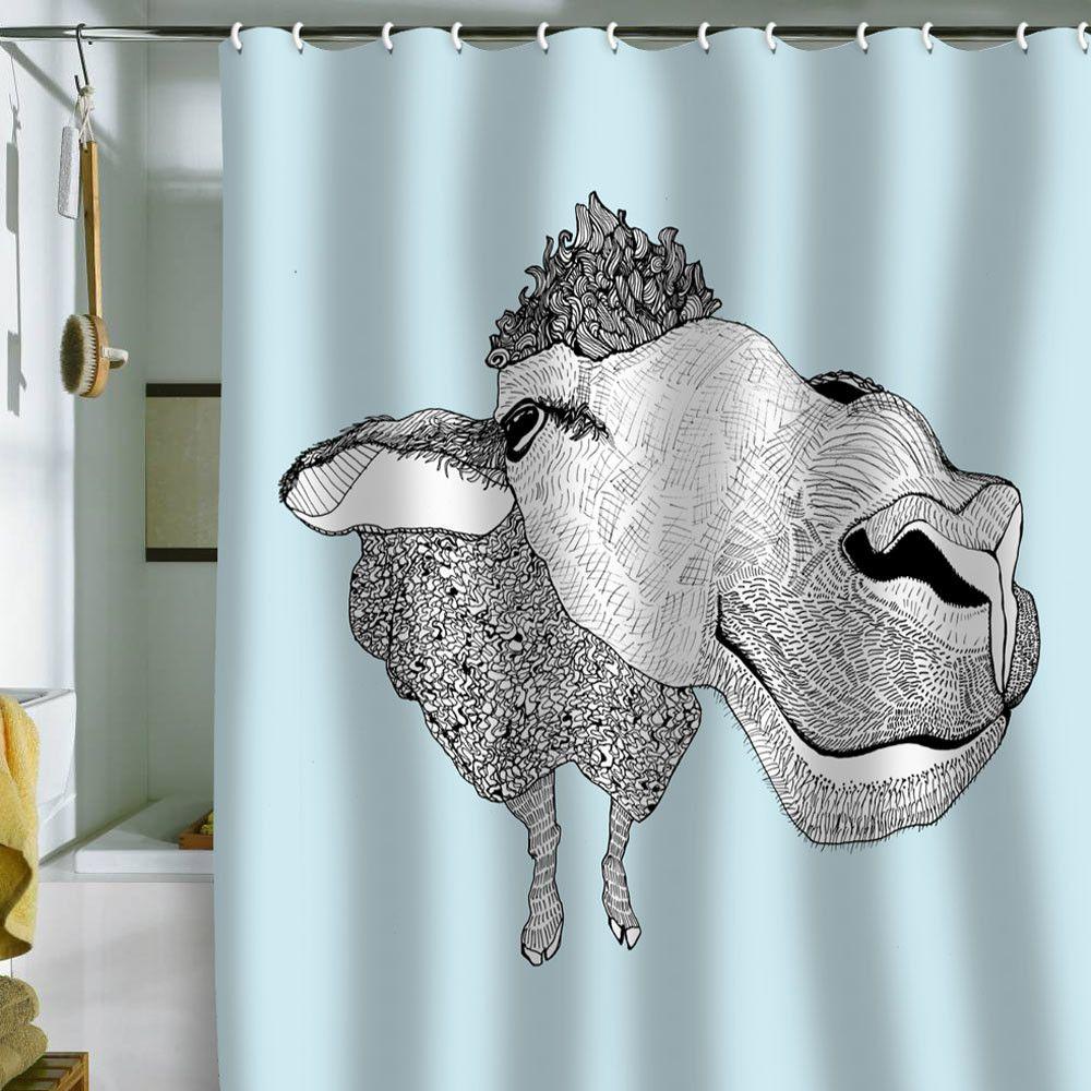 Casey Rogers Sheep Shower Curtain Capre