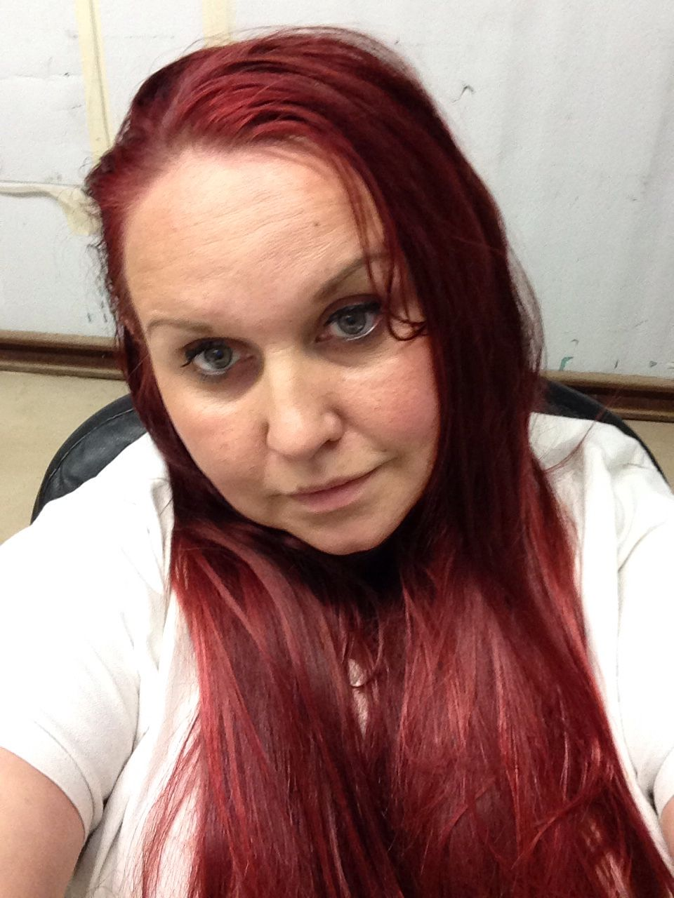 After Two Washes With Korean Hi Color Highlights In Red And Magenta