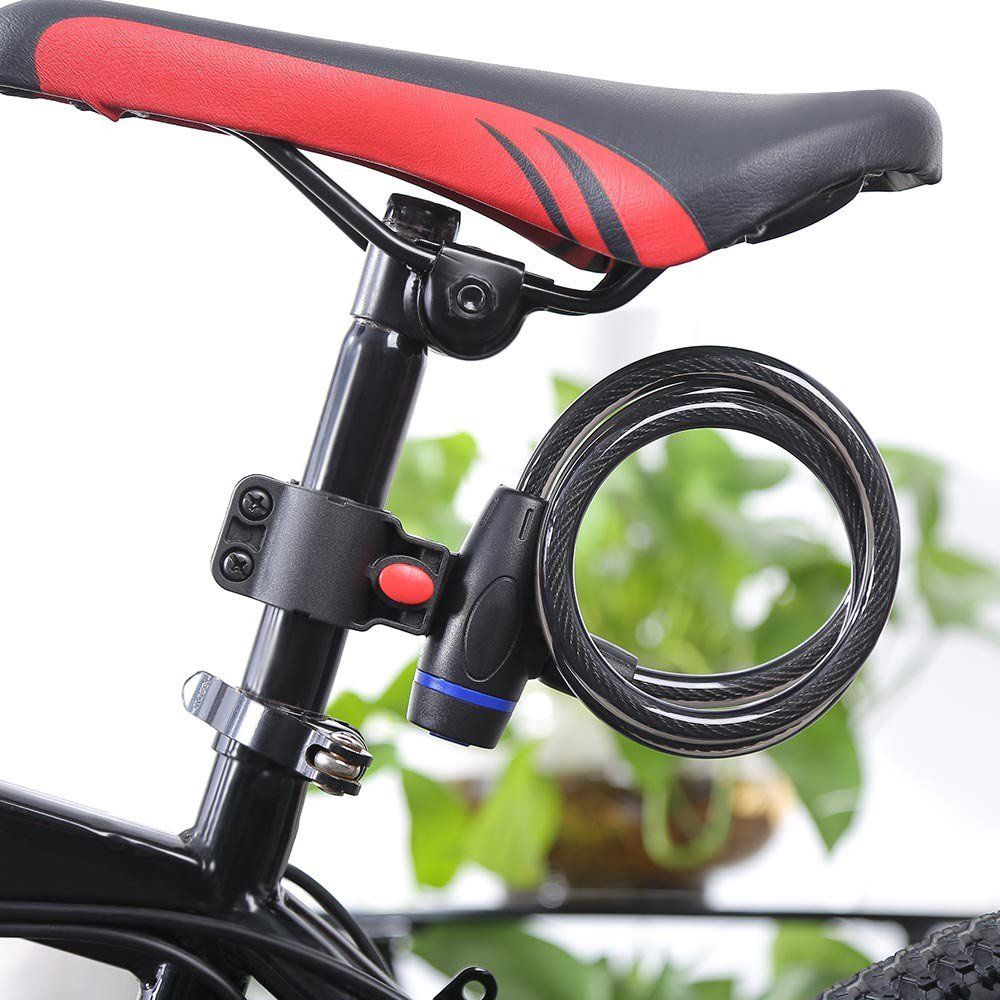 Bicycle Lock Anti Theft Ring Wire Rope Lock Security Lock Steel