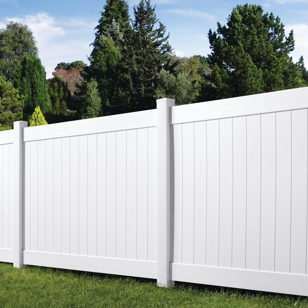 Veranda Linden 6 Ft H X 8 Ft W White Vinyl Pro Privacy Fence