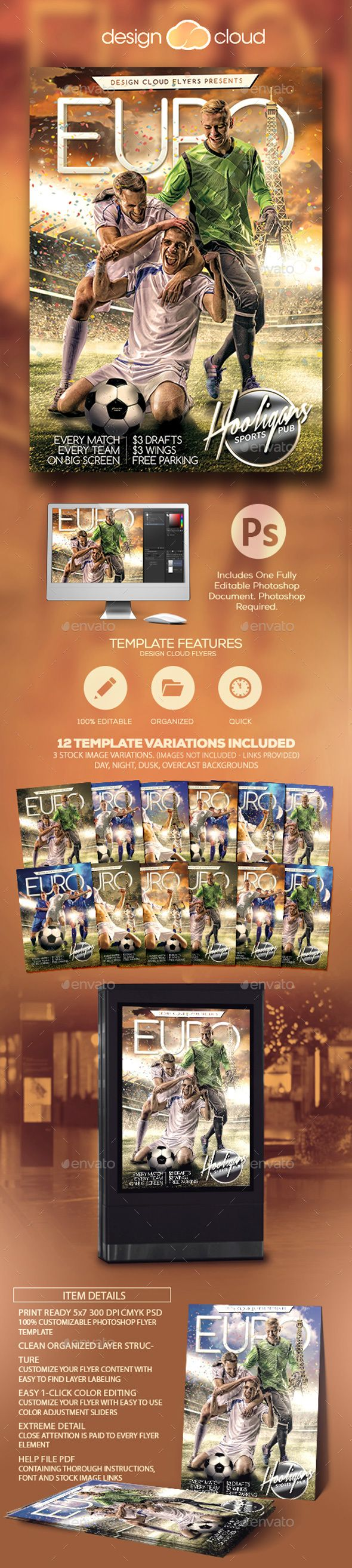 Euro Soccer Flyer Template  Flyer Template Euro And Template