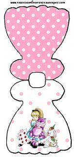 Alice no País das Maravilhas Boneca - Kit Completo com molduras para convites, rótulos para guloseimas, lembrancinhas e imagens!