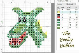 The Geeky Goblin: Free dragon head cross stitch pattern