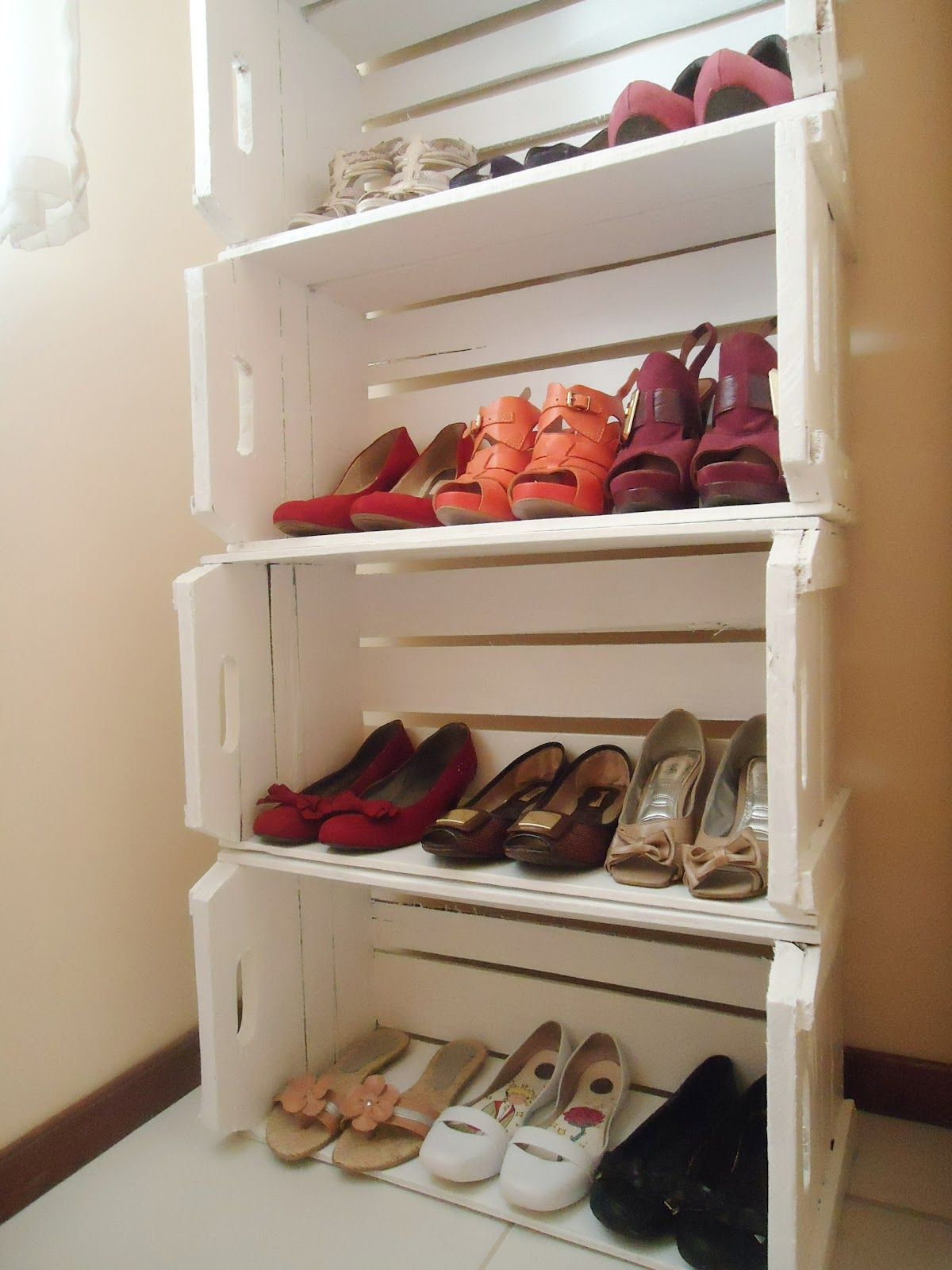 Populares Sapateira feita com caixotes | For the Home | Pinterest | Pallets  VZ84