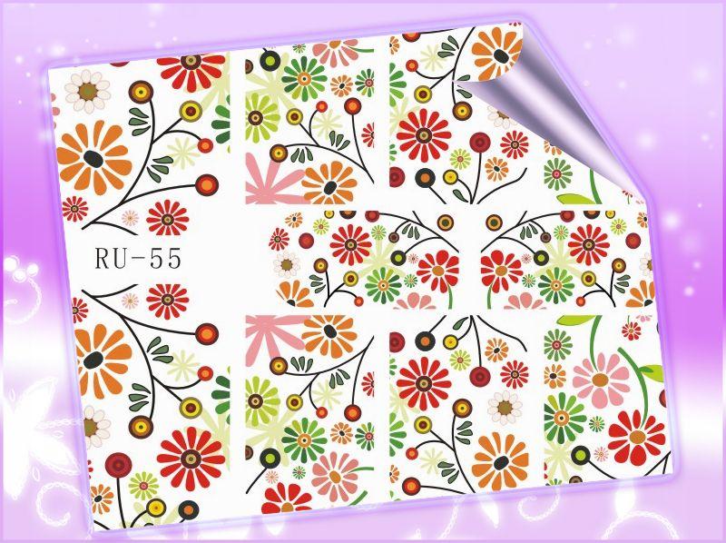 1x Etiqueta Do Prego Estrela De Cinema Vidro Quebrado Da Flor Da Margarida De Bordo Frutas Maca Ru055 060 Nail Stickers Nail Tools Star Flower