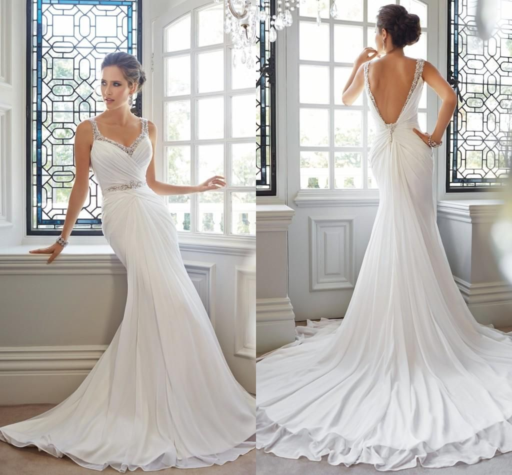 2015 Designer Wedding Gowns: 2015 Fishing Mermaid Wedding Dresses With Open Backless