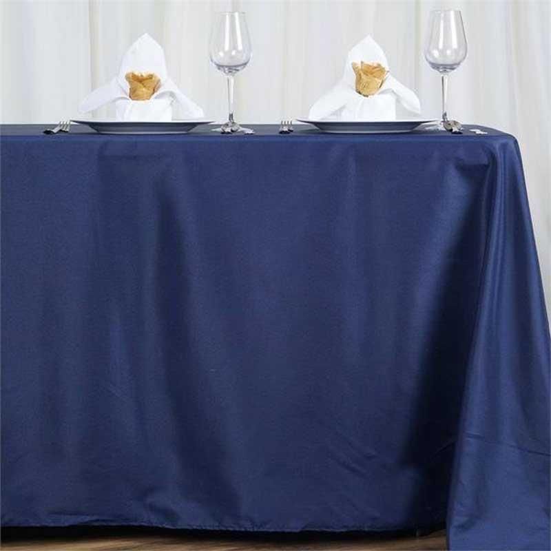 72x120 Navy Blue Polyester Rectangular Tablecloth Table Cloth