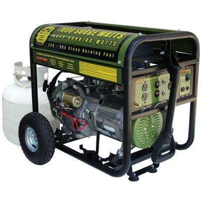 Sportsman 7 000 6 000 Watt Propane Gas Powered Electric Start Portable Generator Gen7000lp Propane Generator Portable Generator Portable Propane Generator