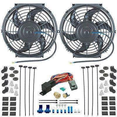 Dual 10 Inch Electric Radiator Cooling Fans Npt Probe Fan