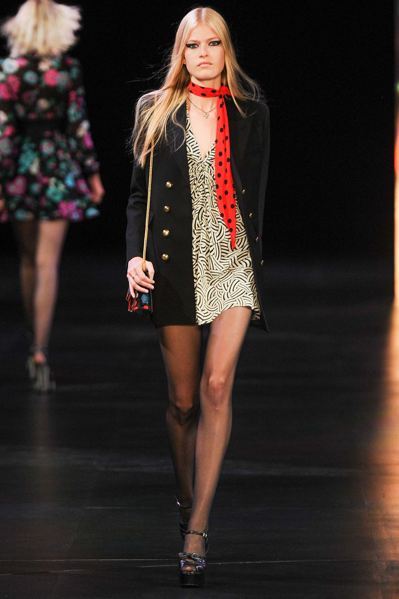 Saint Laurent Spring 2015 RTW | Seriously everyone is doing 60s and it reminds me of a certain movie as of late!