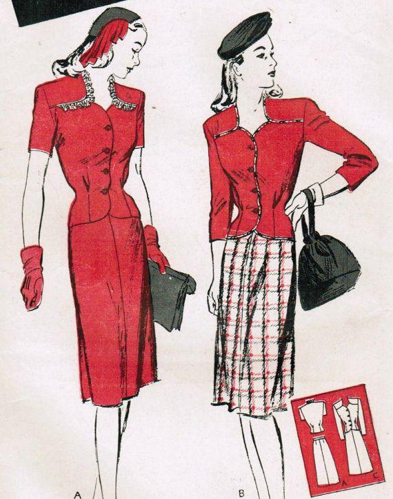1940s Butterick Pattern