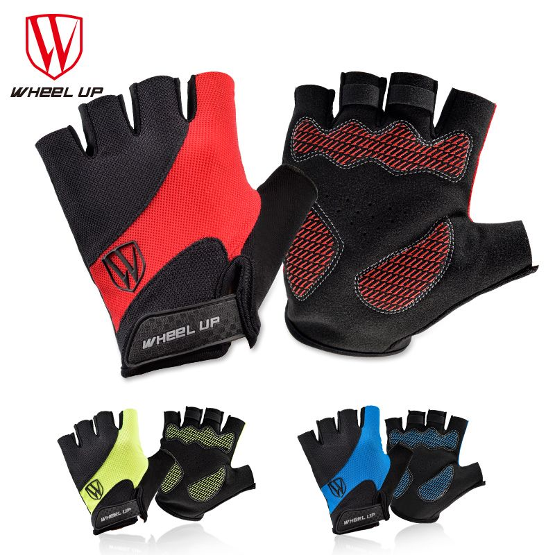 WHEEL UP Cycling Gloves Half Finger Sports Gloves Lycra Polyester Anti-slip Washable Bicycle Gloves Men's Women's Gloves
