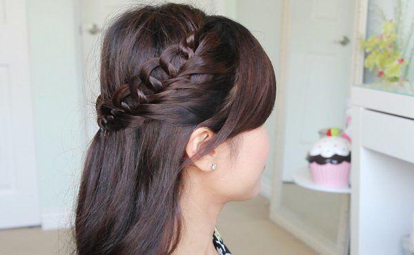Crochet Loop Braid Hairstyle Bebexo Hairstyles Beauty Blog Braided Hairstyles Hair Styles Medium Hair Styles