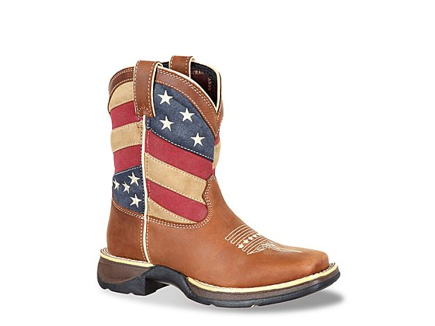 85aff315d4a Boys Patriotic Flag Toddler & Youth Cowboy Boot -Light Brown ...