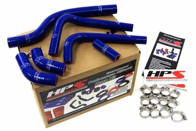 HPS Blue Silicone Bike Radiator Hose for Suzuki 04-06 RMZ250 Coolant