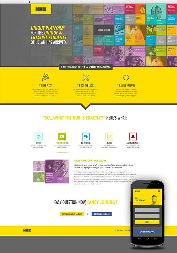Hub On Behance Web Design Inspiration Web Design Affordable Website Design