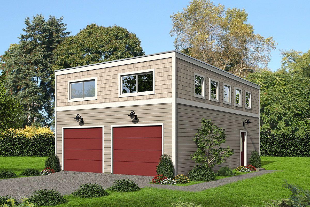 Plan 68485vr Modern Style Garage Plan In 2021 Garage Plans With Loft Modern Garage Carriage House Plans