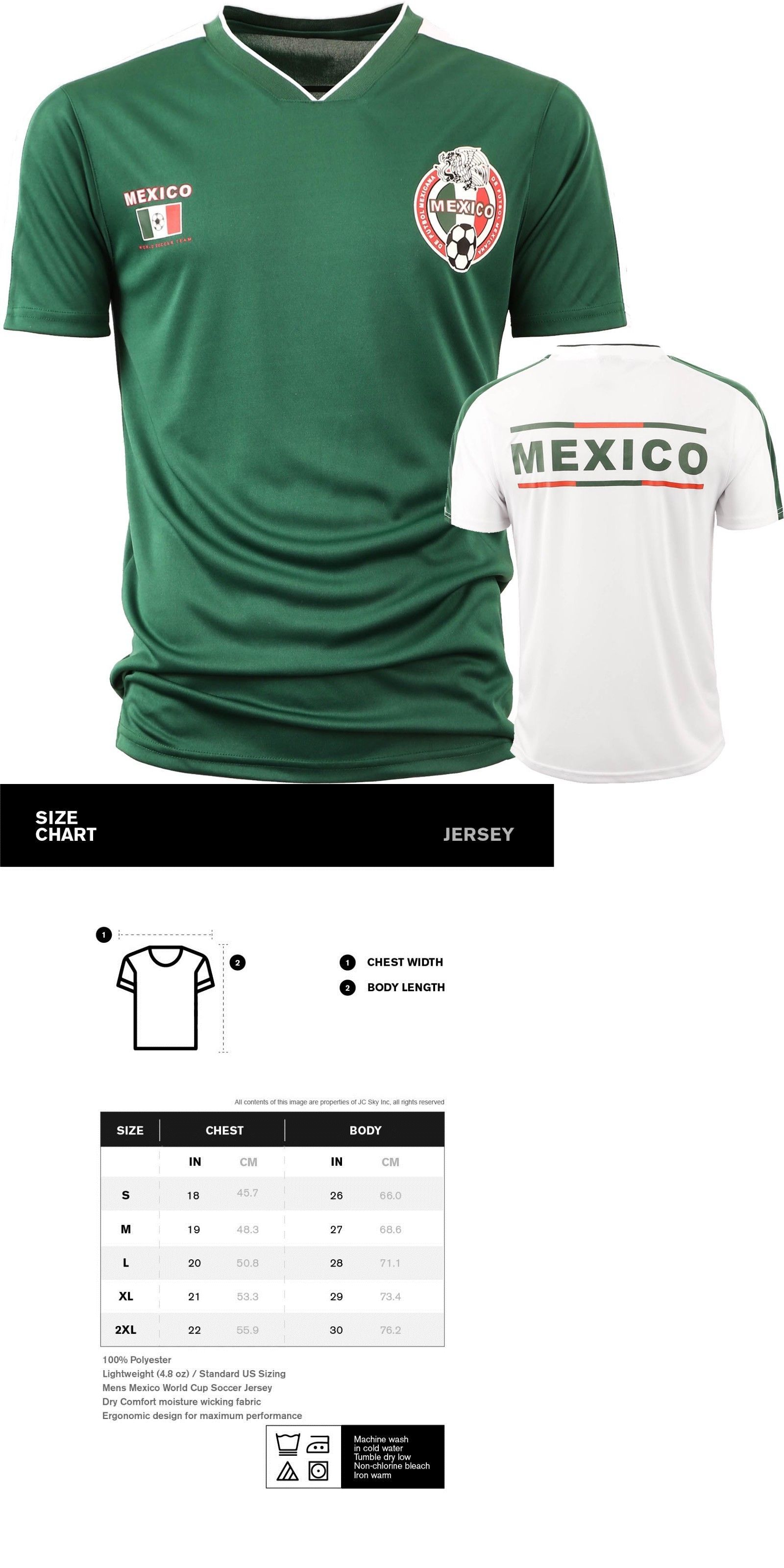 4673cd05c Clothing Shoes and Accessories 159178  Mexico Jersey Both Colors White And  Green 2018 World Cup Men S- 2Xl Soccer -  BUY IT NOW ONLY   19.94 on eBay!