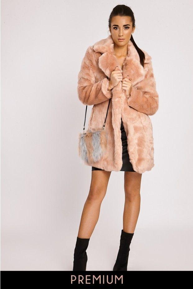 PENELOPE PINK LONGLINE FAUX FUR COAT   Fashion   Pinterest   Fur ...